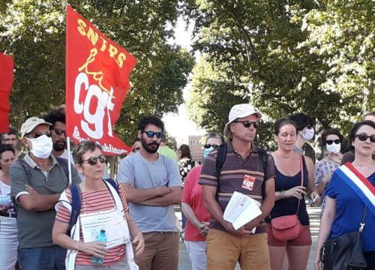 Rassemblement hier à Montpellier pour le retrait de la Loi de Programmation Pluriannuelle de la Recherche