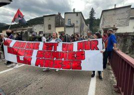 Rassemblement à Sumène pour demander la dissolution de la Ligue Du Midi